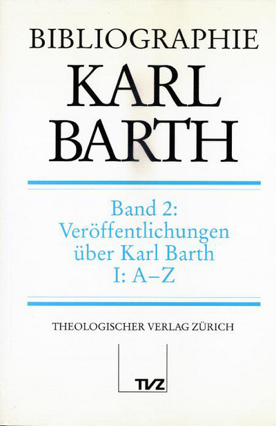 Cover Bibliographie Karl Barth, Band 2
