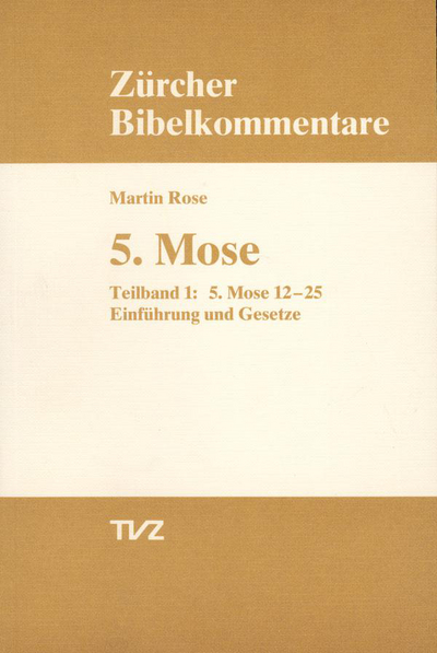 Cover 5. Mose Deuteronomium