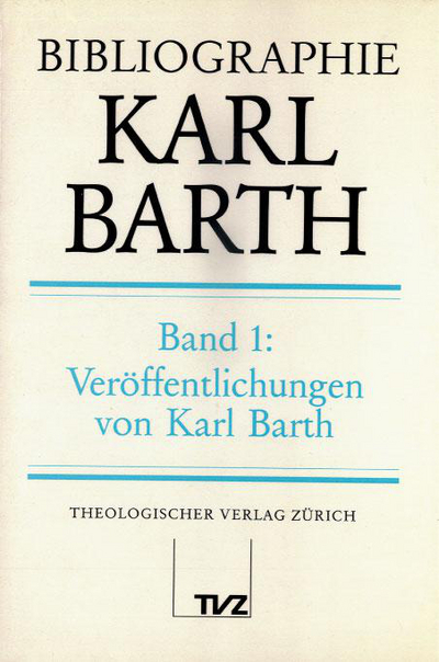 Cover Bibliographie Karl Barth, Band 1