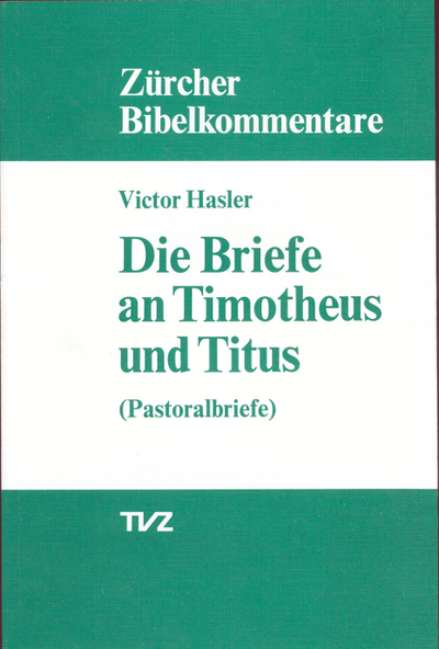 Cover Die Briefe an Timotheus und Titus