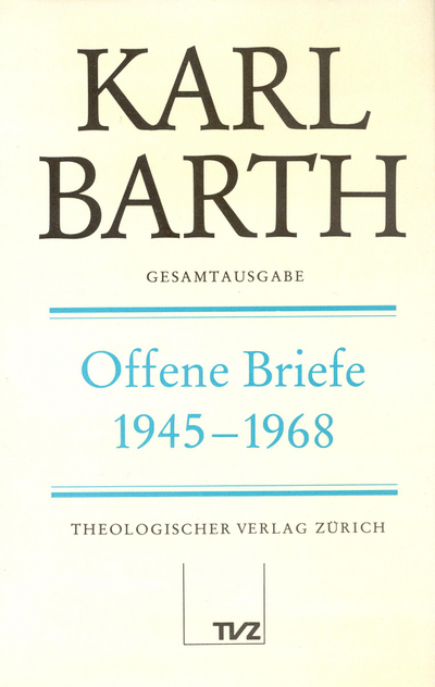 Cover Offene Briefe 1945–1968