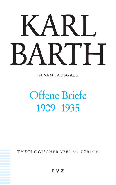 Cover Offene Briefe 1909–1935