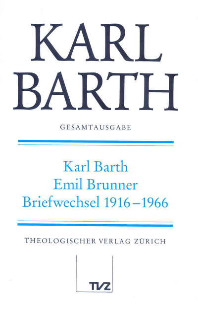 Cover Karl Barth – Emil Brunner
