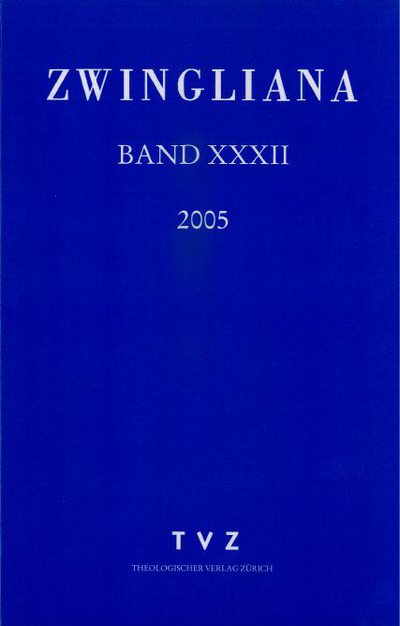 Cover Zwingliana Band 32: Jg. 2005