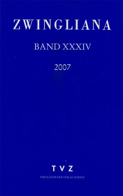 Cover Zwingliana Band 34: Jg. 2007