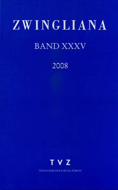 Cover Zwingliana Band 35: Jg. 2008