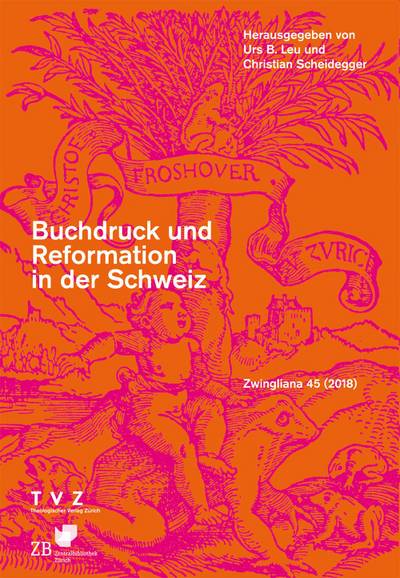 Cover Zwingliana Band 45: Jg. 2018